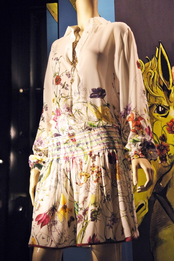 gucci 2013 chiffon dress clothing clothes ropa vetements collection fashion mode_effected