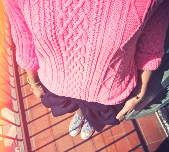 converse pull knitwear marilyn darel superdry pink neon fluo rose.jpg_effected