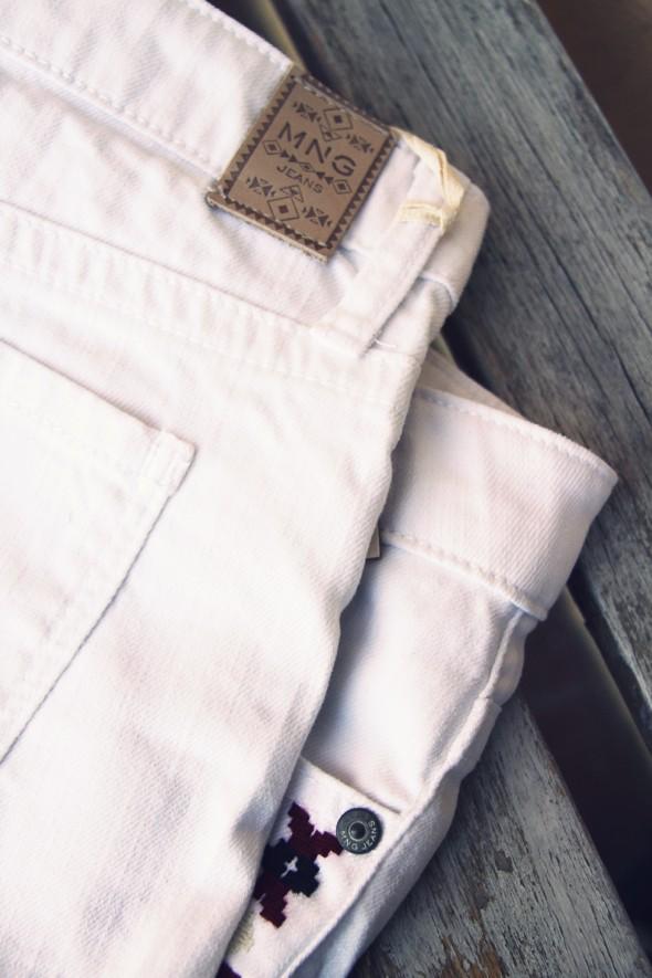 mango mng aztec shorts short blanc white_effected