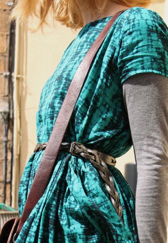 robe augustine ba&sh dress esmerald émeraude_effected
