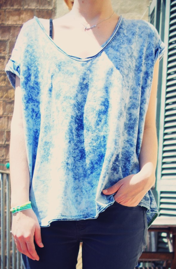 T-shirt oversize free people acid wash tee