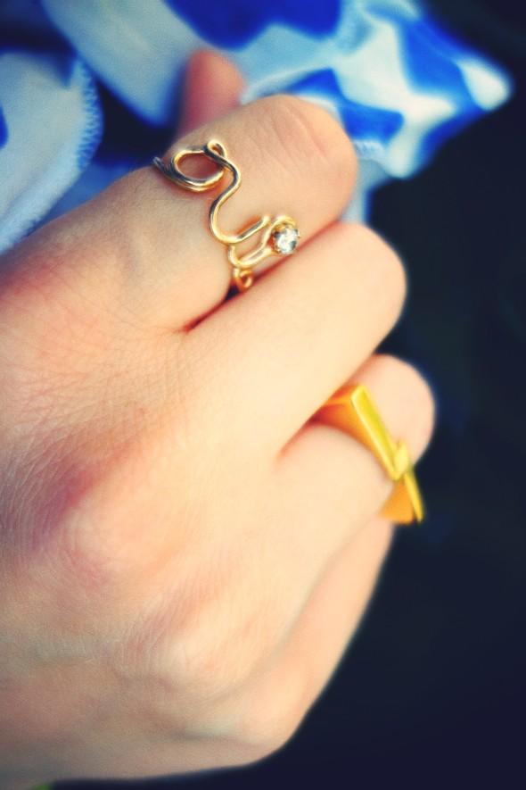 bagues rings etsy oui dior adeline affre lightning éclair or doré gold_effected