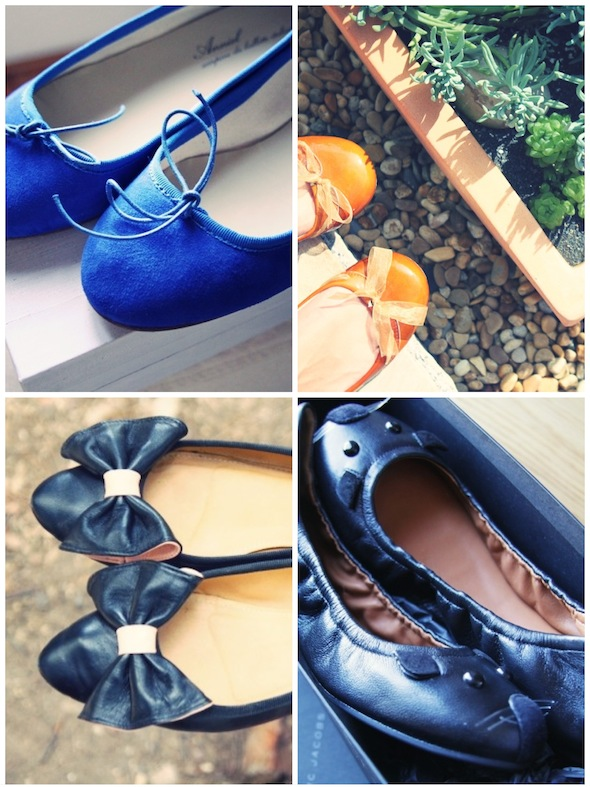 ballerines ballerinas anniel bleu klein blue japan gold camel black bow noir noeud mice souris marc by marc jacobs