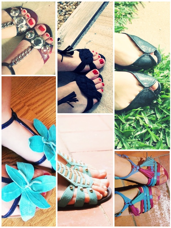 sandales sandals kurt by geiger minelli h&m black lolipops turquoise bocage fuschia