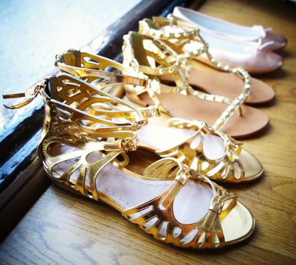 sandales dorees