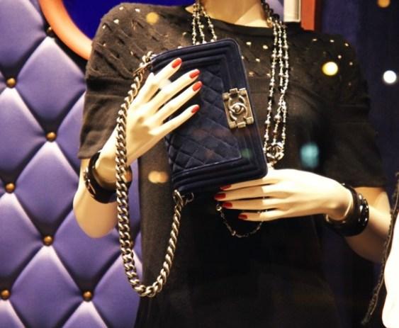 Chanel le boy bag sac velours
