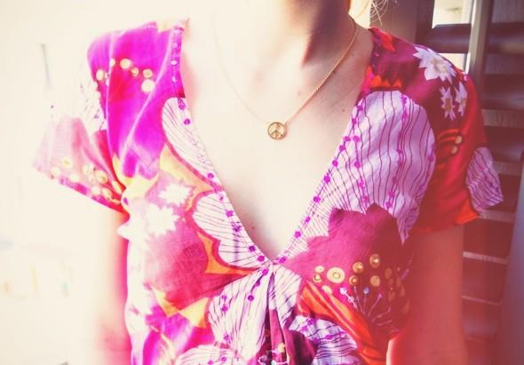blouse rose antik batik