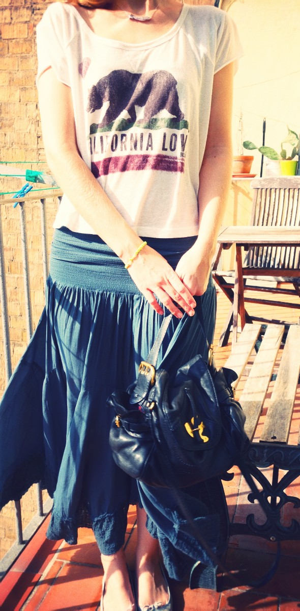 jupe longue outfit free people skirt convertible viscose maxi billabong california love shirt cropped_effected