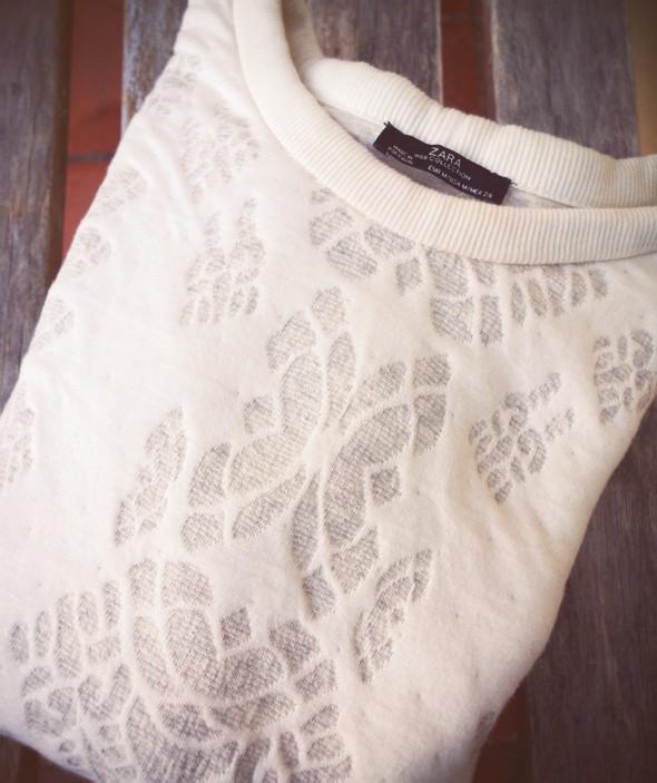 sweat sweatshirt zara woman women 2013 2014 white blanco blanc soft_effected