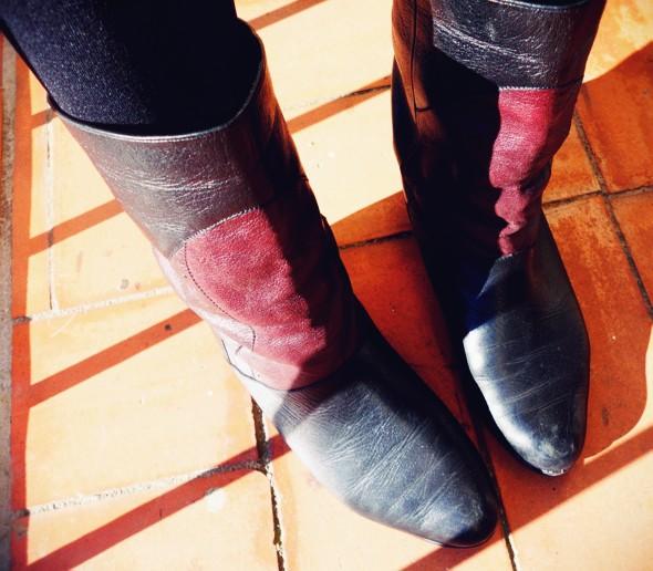 -boots salamander vintage bottines bottes purple black_effected-001