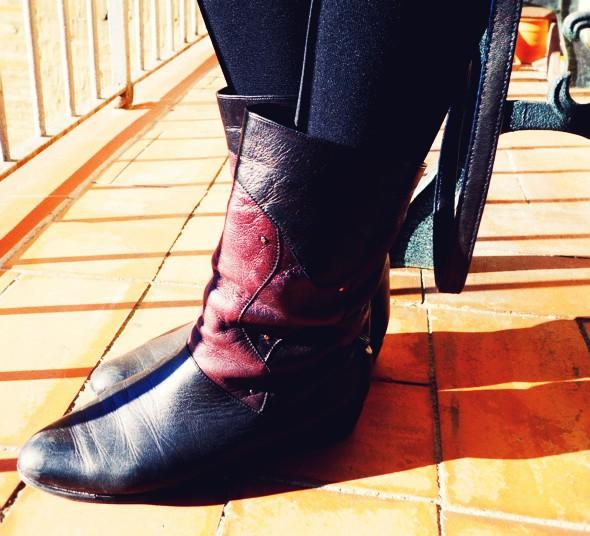 boots salamander vintage bottines bottes purple black_effected