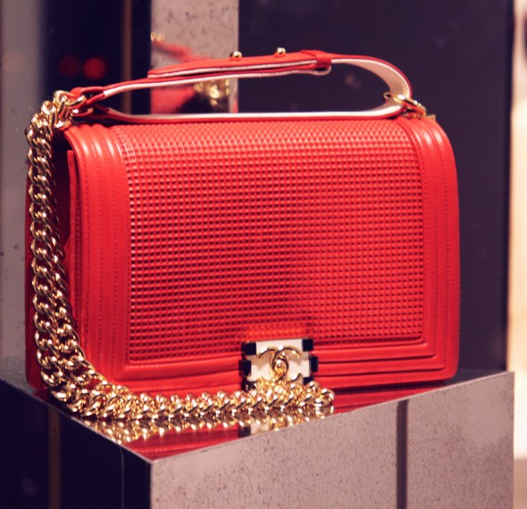 chanel bag boy red rouge sac 2013 winter fall 2014_effected