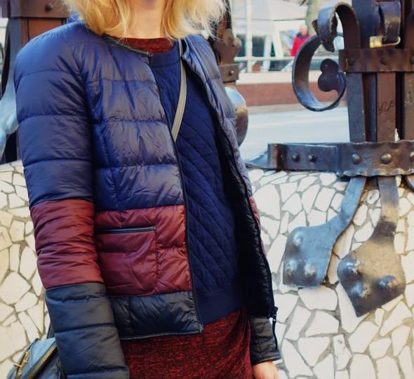 La robe bordeaux zara bowsome le blog mode qui voyage loin - Mademoiselle plume comptoir des cotonniers ...