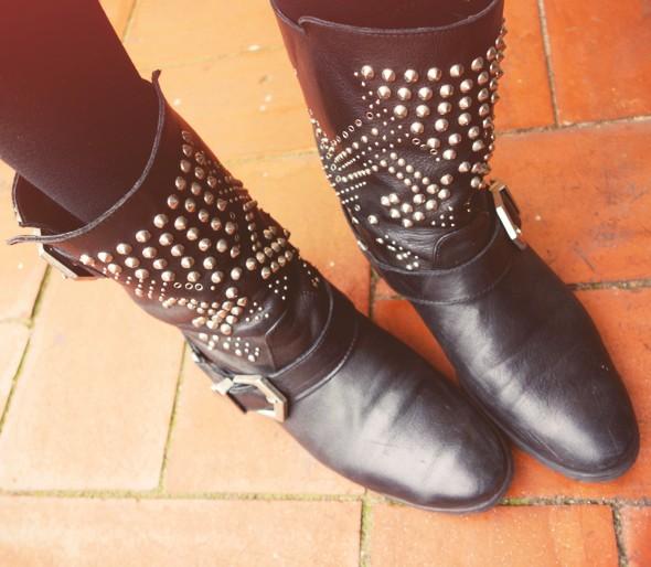 zara studs boots_effected