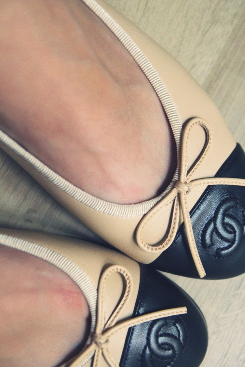 ballerines bicolores chanel