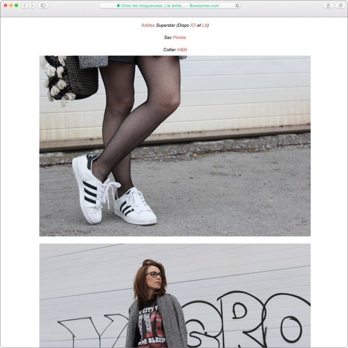 blog mode collants resilles superstar adidas mlle lunettes