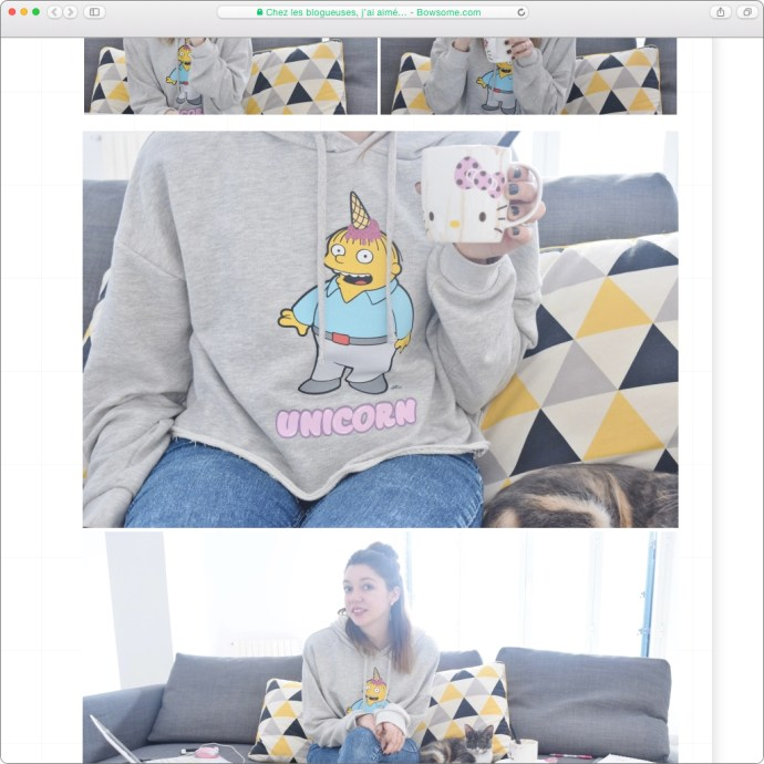 blog mode sweat bershka simspons mgt blog