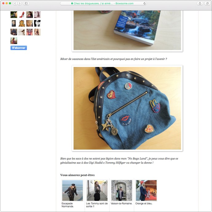 blog mode gigi hadid backpack tommy hilfiger leblogdecarolinista