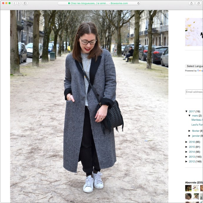 blog mode tenue chaussettes soquettes resilles sac maje chachamosshart