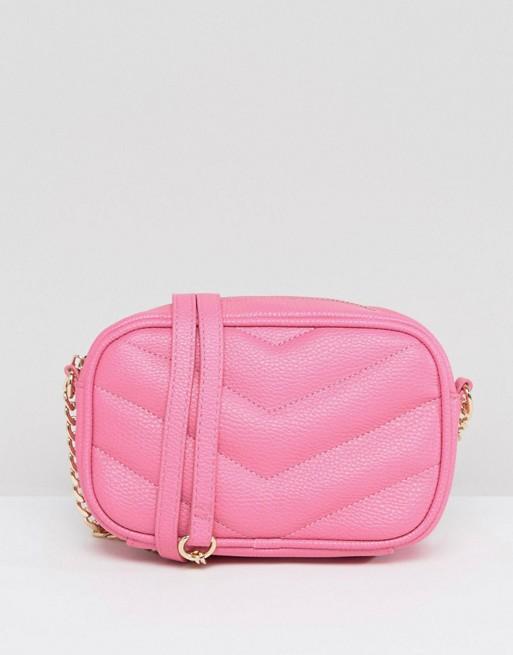 Mini sac rose chevron