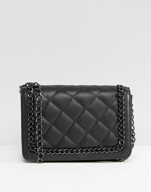 Sac matelasse noir style Chanel