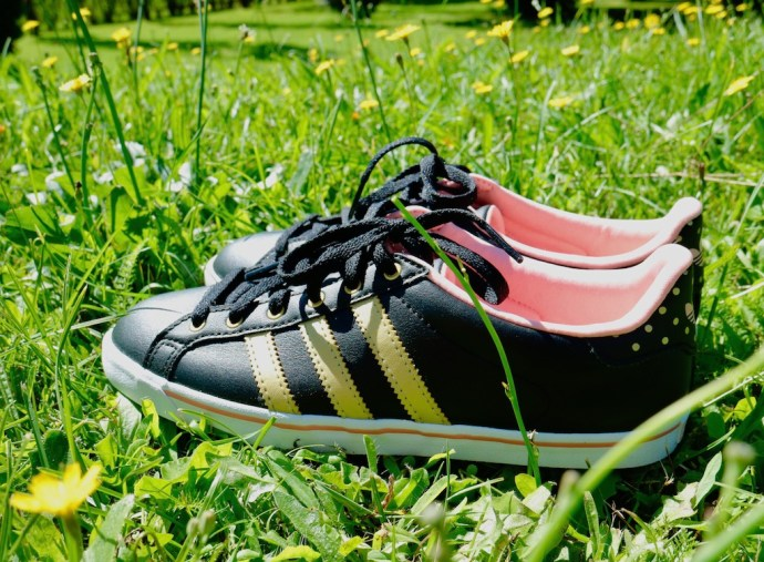 adidas originals women pink gold black