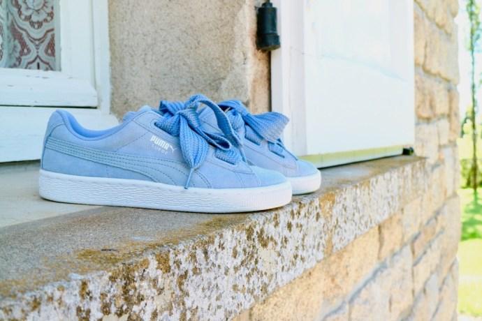 chaussures puma heart noeuds
