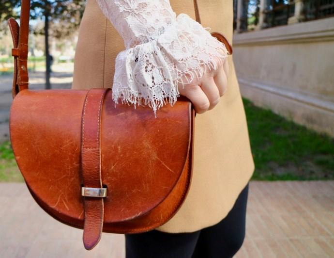 mini sac en cuir camel