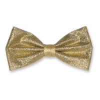 Cheap bow ties! Polyester bow tie gold glitter.