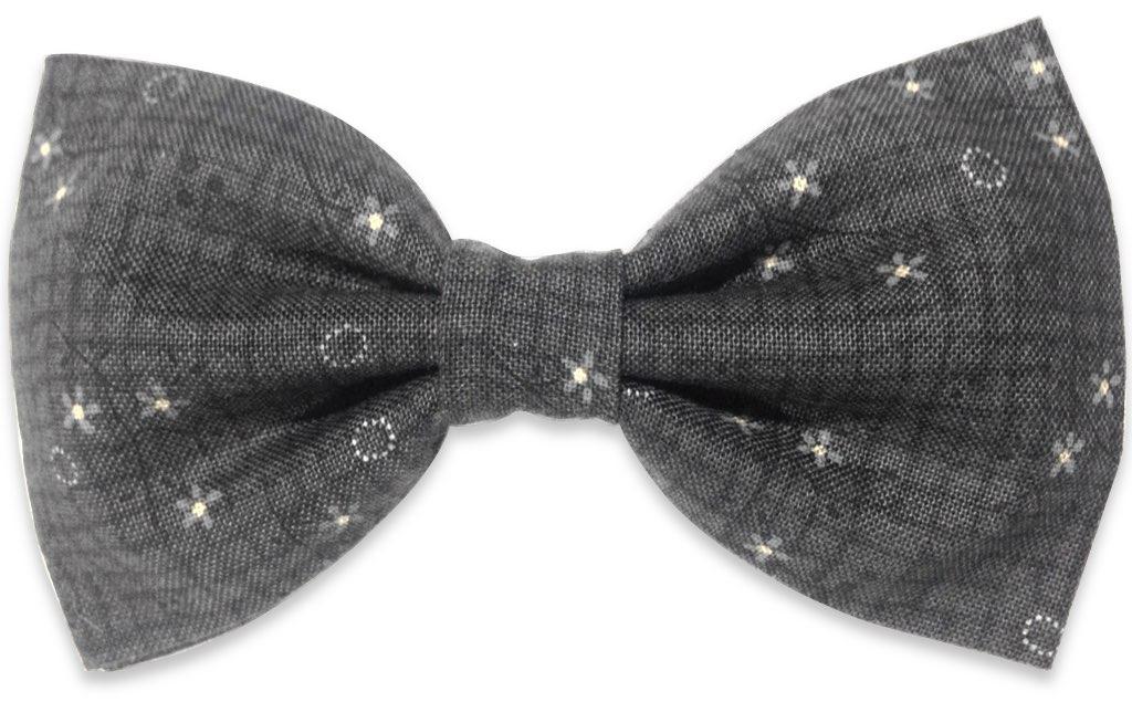 Gray Floral Bow Tie  BowTieTrends.com