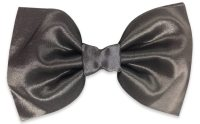 Grey Silk Bow Tie  BowTieTrends.com