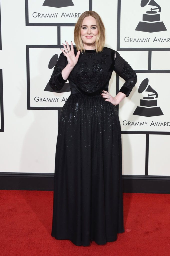 Bowtiful Life NYTimes Grammys Adele in Givenchy