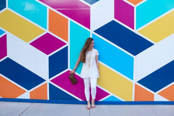 NEWCITY Geometrics Mural Lincoln Park Bowtiful Life
