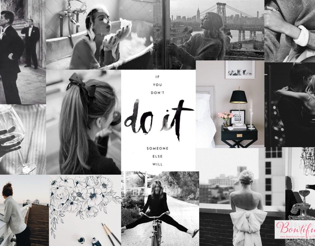 """Do It"" Black & White Bowtiful Wallpaper"