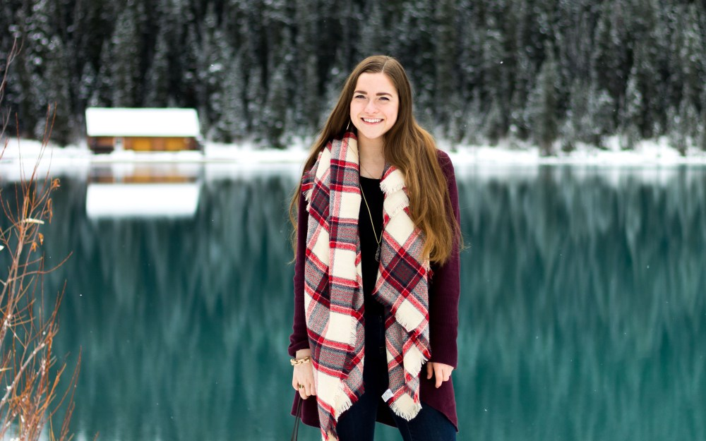 Cozy Circle Cardigan at Lake Louise