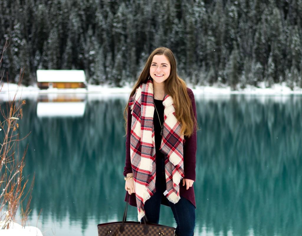 Cozy Circle Cardigan at Lake Louise