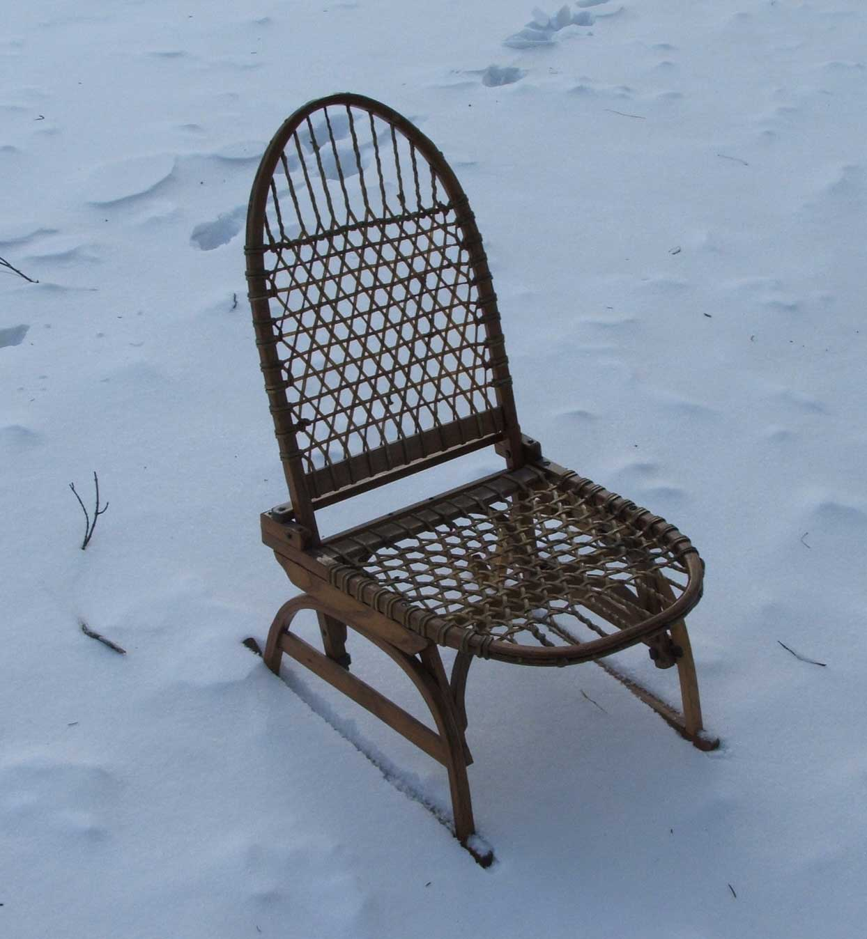 Old folding camp chair