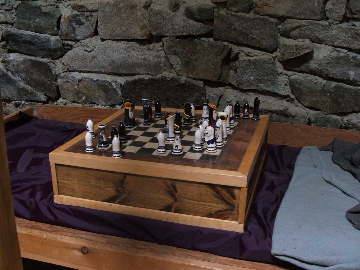 The Chess table at the Wheelhouse