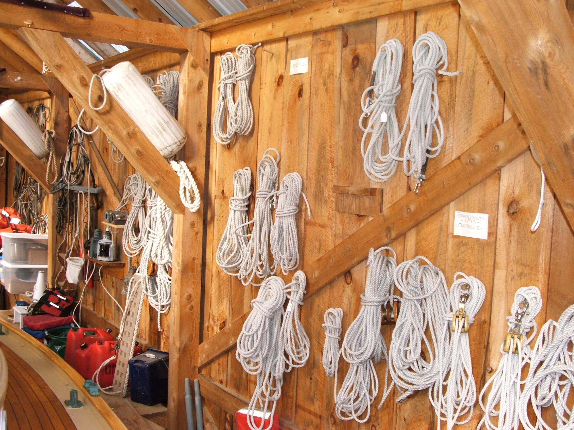 Stored rigging
