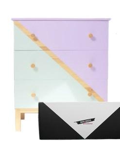 Box peinture meuble bois bicolore