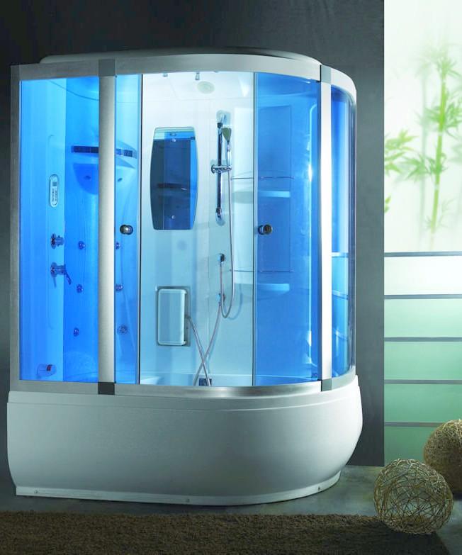 Box doccia bagno turco con idrogetti e cromoterapia