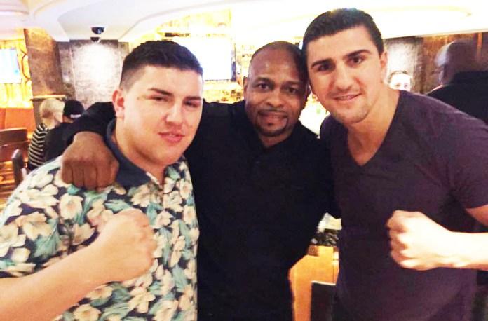 Marco Huck mit Bruder Kenan und Boxlegende Roy Jones jr in Las Vegas