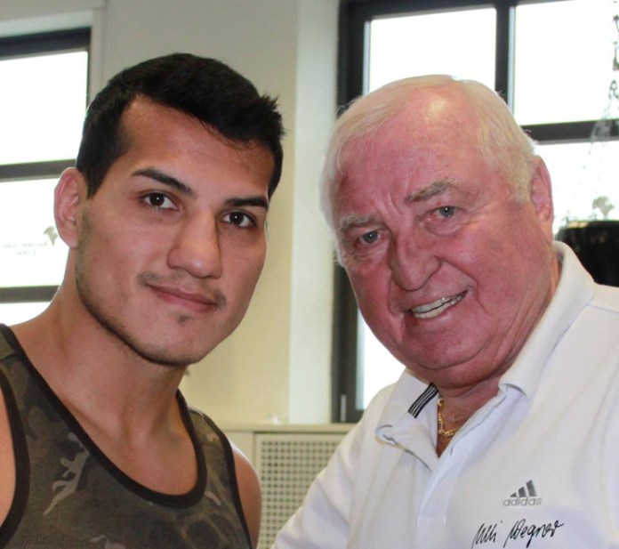 Jack Culcay und Trainer Ulli Wegner