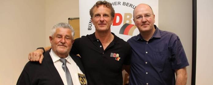 von links: Vize-Präsident Sport Volker Grill, Präsident Thomas Pütz und Vize-Präsident Verwaltung Michael Facklam
