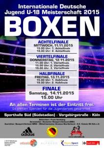 Deutsche Jugendmeisterschaft im Boxen-Plakat