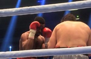 Halbschwergewichtler Deion Jumah ein Landsmann von Martin Murray gegen Fabrizio Leone aus Italien / Foto: Sebastian Heger