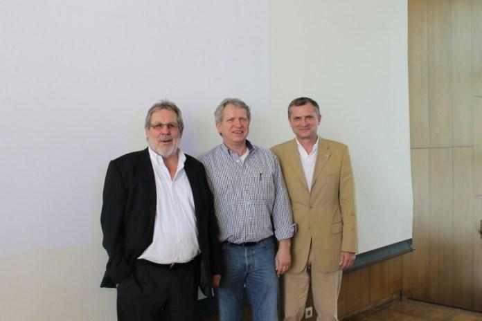 Sie sind für Profis bei Olympia - v.l. DBV Präsident J. Kyas, Vize Finanzen E. Dreke und Sportdirektor M. Müller