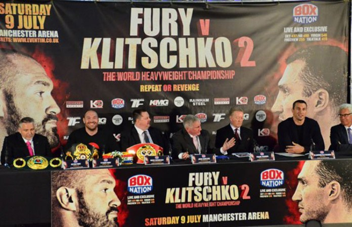Pressekonferenz in der Manchester Arena