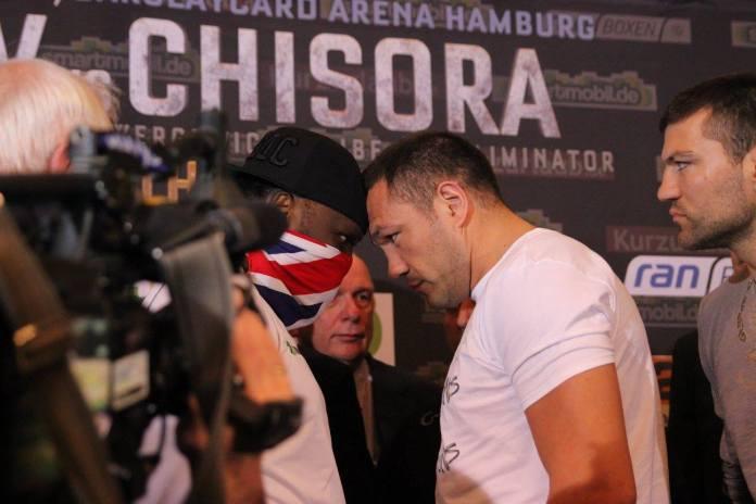 Pulev vs. Chisora Das Wiegen / Foto: Sebastian Heger
