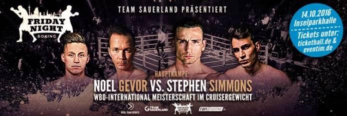 Noel Gevor vs. Stephen Simmons
